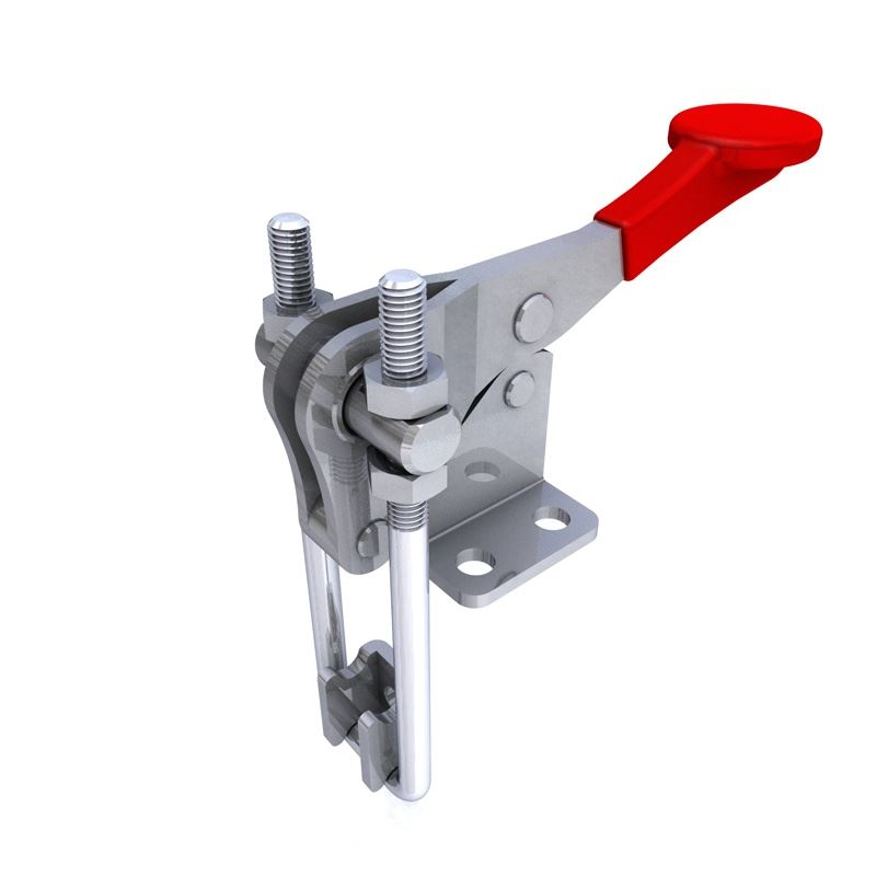 Stainless steel latch clamp with plate size kg