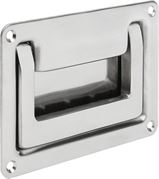 Recessed handle foldaway