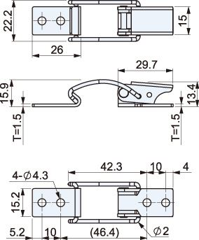 Zinc Plated Spring Toggle Latch L=76mm CT-19102