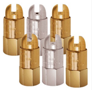 "Brass Round Compressed Air Nozzles Sizes 1/8"" to 3/8"""