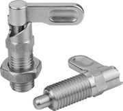 K1285 Cam-Action Indexing Plungers With Stop In Stainless Steel