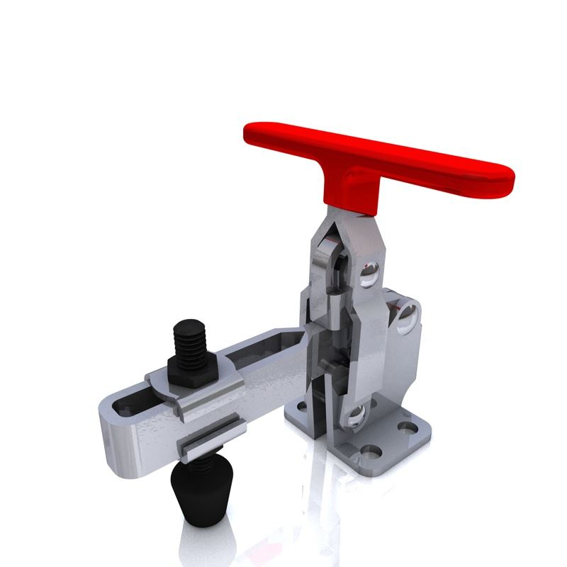 Vertical Clamp Low Profile Flat Base Slotted Arm Size